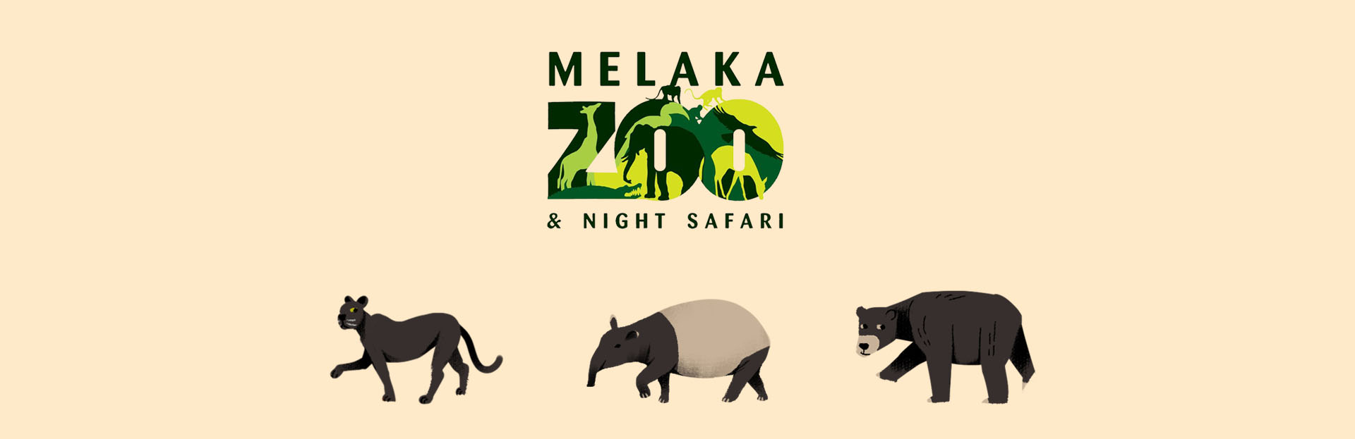 Melaka Zoo night safari logo animal