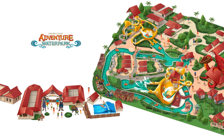 Theme Park Map Desaru Coast Adventure Park Studio