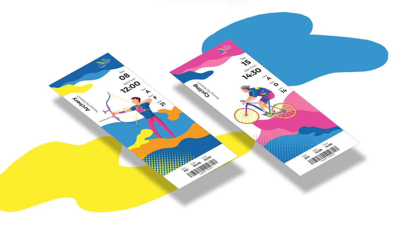 Illustration branding ticket sport game event