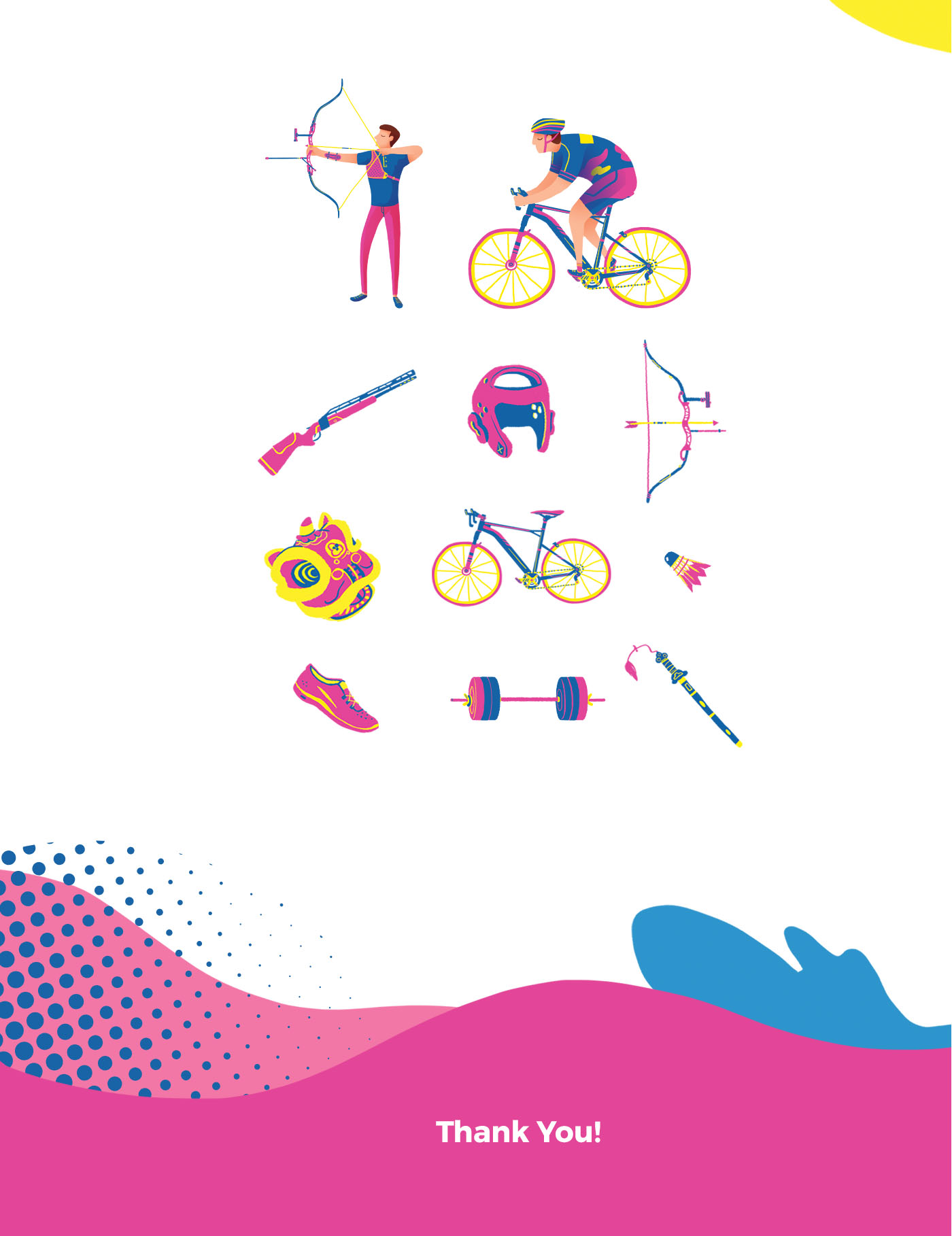 sport game event illustration archery and cycling