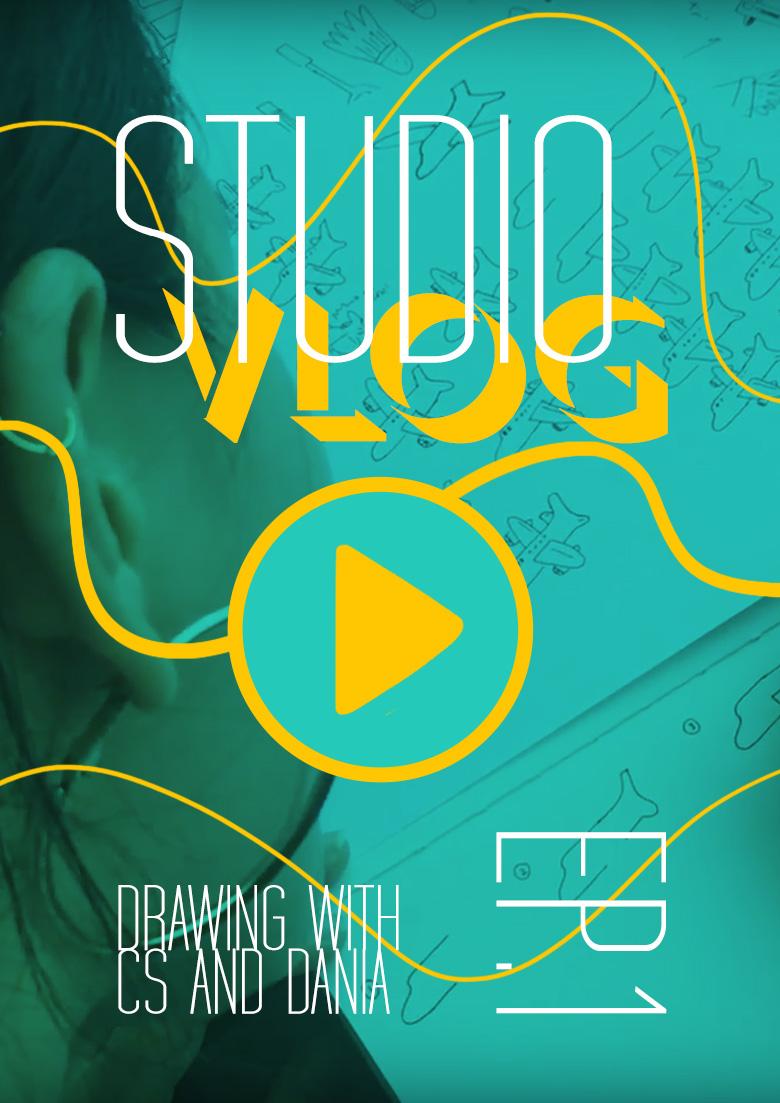 Behind The 90 Studio Vlog (Ep1): Drawing with CS & Dania