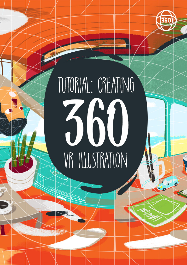 4 Steps to create a 360 VR illustration / painting in Photoshop (with pictures)